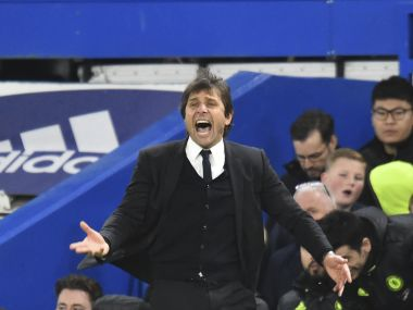 File phot of Chelsea manager Antonio Conte. AFP