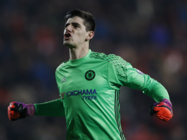 File photo of Chelsea's Thibaut Courtois. Reuters