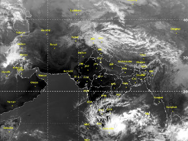 Cyclone Nada. MeT Department
