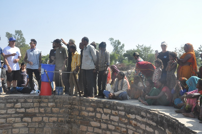 The villagers of Janwaar during a demonstration session