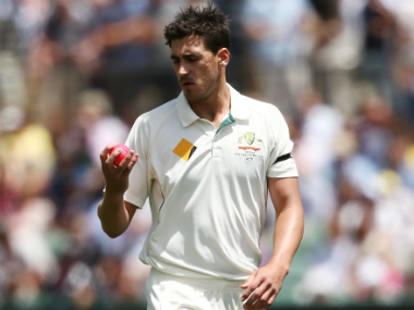 File photo of Mitchell Starc with the pink ball. Getty images