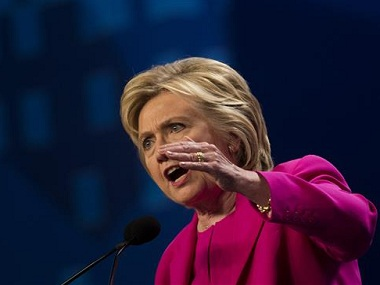 File image of Hillary Clinton. AP