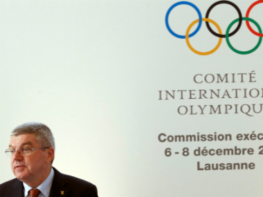 IOC president Thomas Bach at the comittee's executive board meeting in Lausanne. Reuters