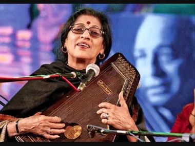 Kishori Amonkar. Image from YouTube