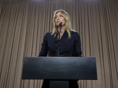 Maria Sharapova was suspended for 15 months for a failed drug test. Getty