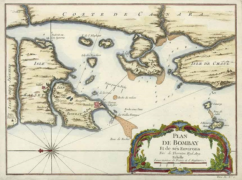 Plan of Bombay and it's Vicinity (1703). From www.east-indians.net