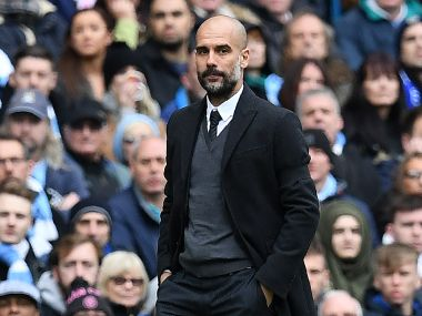 File image of Manchester City's manager Pep Guardiola. AP