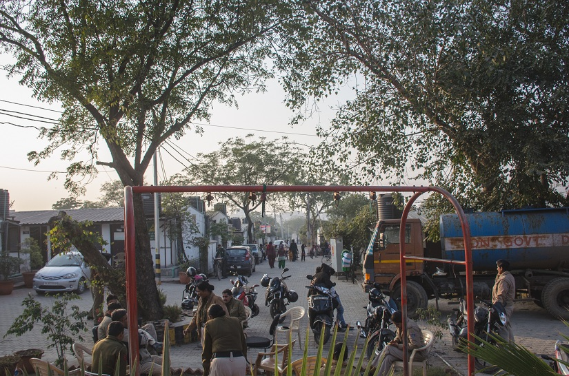 Inside the Transit Camp, heavy police deployment, in a city where women have no security