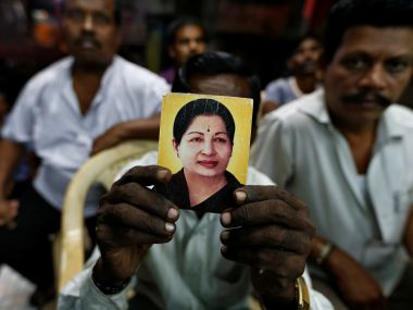 A supporter Jayalalithaa at RK Nagar. Reuters
