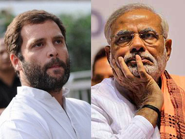 Rahul Gandhi and Narendra Modi. Firstpost
