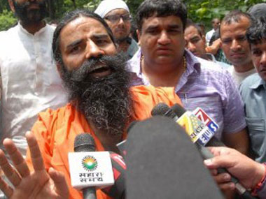 File photo of Ramdev Baba. AFP