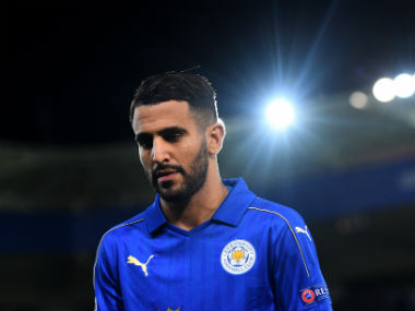 File photo of Leicester City's Riyad Mahrez. Getty Images