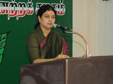 VK Sasikala on her first day as AIADMK general secretary.