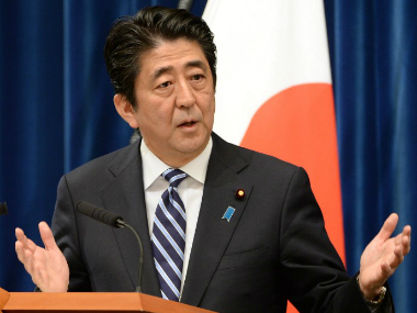 File photo of Shinzo Abe. AFP