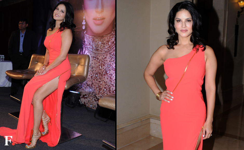 Bollywood actor Sunny Leone during the launch of her own app in Mumbai, India on November 30, 2016. Sachin Gokhale/Firstpost