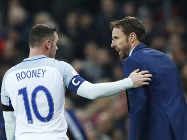 England manager Gareth Southgate with Wayne Rooney. Reuters