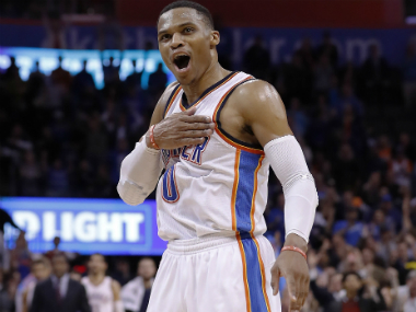Russell Westbrook was unstoppable as he posted his 4th consecutive triple-double to lift OKC to victory. AP