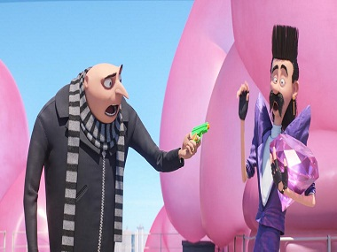 Gru and Balthazar Bratt in a still from Despicable Me 3