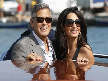 george clooney and amal alamuddin AP 380