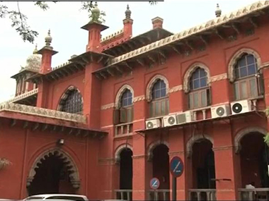 File image of Madras High Court. CNN-IBNlive