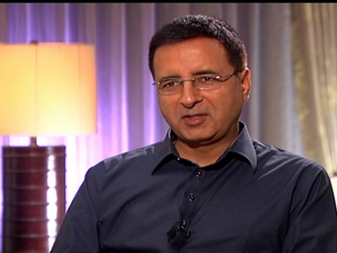 Randeep Surjewala. CNN News 18