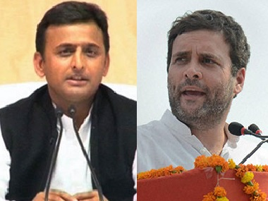 File image of Akhilesh Yadav and Rahul Gandhi. PTI and Reuters
