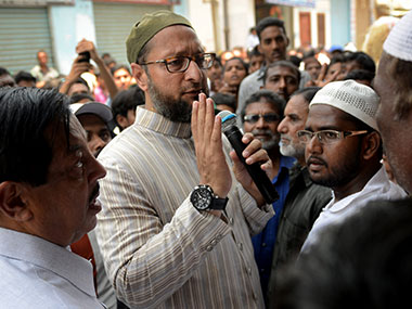 File photo of Asaduddin Owaisi. AFP