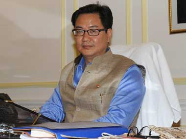 File image of Kiren Rijiju. Image courtesy Press Information Bureau
