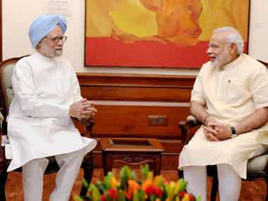 File photo of Prime Minister Narendra Modi and former prime minister Manmohan Singh. PTI