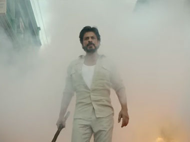 A screenshot of a still from Shahrukh Khan -starrer film Raees