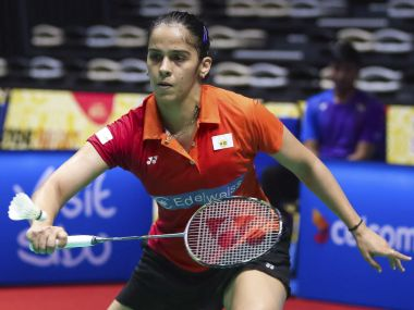 Saina Nehwal in action during the Malaysia Masters. AP