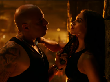 Vin Diesel and Deepika Padukone in xXx: Return of Xander Cage. Screenshot from YouTube video