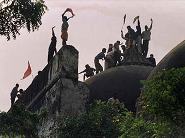 Babri demolition. Image courtesy: Ibn