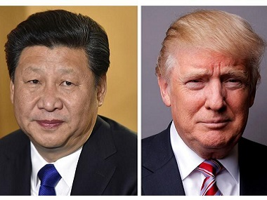 Chinese President Xi Jinping (L) and US President Donald Trump. Reuters