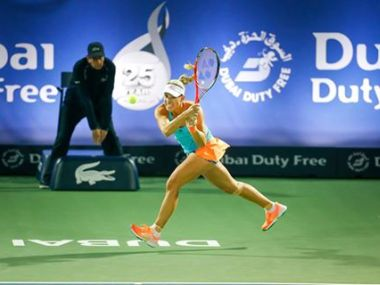 Angelique defeated Ana Konjuh to move into the semis. Image courtesy: Facebook/DDFTennis