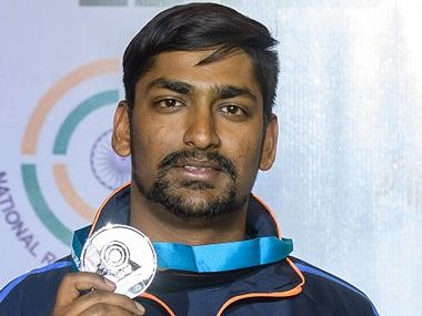 India's Ankur Mittal bagged silver medal in the double trap shooting event at the ISSF World Cup in New Delhi. Twitter/ @ISSF