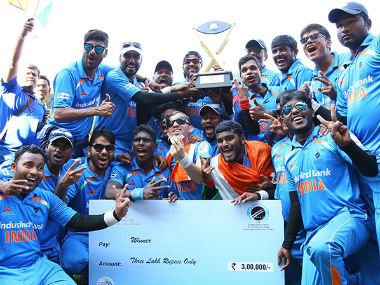 BCCI congratulated Indian team for winning the T20 Blind World Cup. Image Credit: Twitter @BCCI