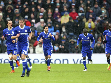 Chelsea were held 1-1 by Burnley but still lead the table by 10 points. AP