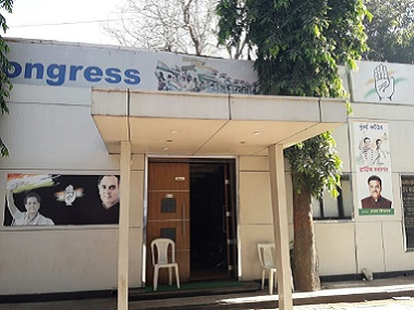 The Congress office in Mumbai wears a deserted look. Image courtesy: Aprameya Rao