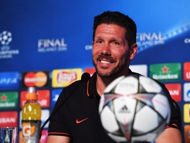 File photo of Atletico Madrid boss Diego Simeone. Getty Images