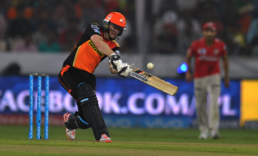 Eoin Morgan plays a shot during the 2016 Indian Premier League. AFP