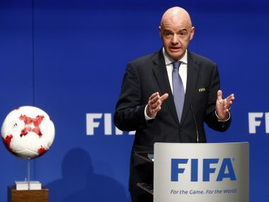"Fifa president Gianni Infantino added that Russia is a ""welcoming and football-loving country"". Reuters"