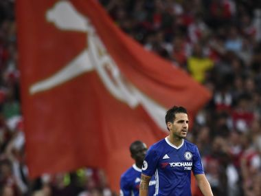 Chelsea's Cesc Fabregas during the game against Arsenal at Emirates. Reuters