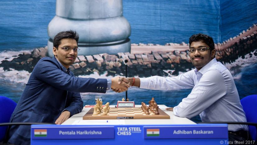In the second round, Adhiban and Harikrishna faced off against each other. It was Hari who emerged victorious after a complicated queenless middlegame. Firstpost/Sagar Shah