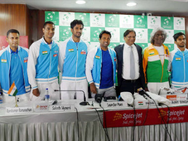 The Indian Davis Cup contingent for the tie against Spain in 2016. PTI