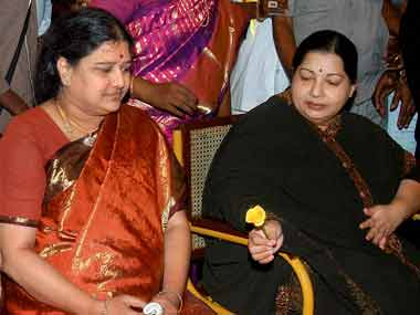 A file photo of Jayalalithaa with Sasikala. PTI