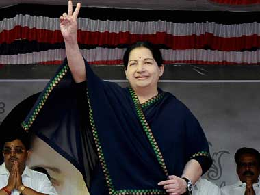 Jayalalithaa. File photo. PTI