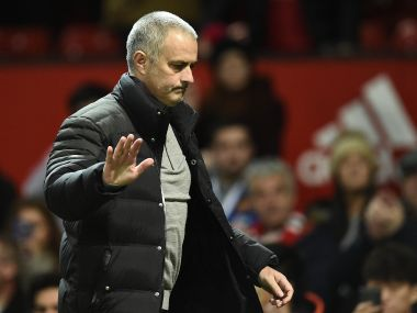 Jose Mourinho during the match between Manchester United and Hull City. AFP