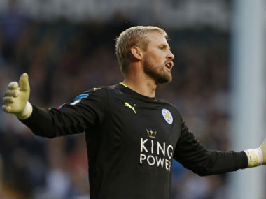 Kasper Schmeichel believes his side needs to get together to avoid relegation. AFP