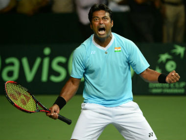 File photo of Leander Paes. AFP